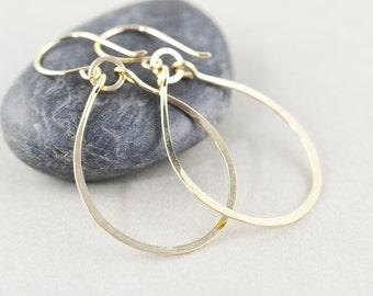 Hoop Earrrings, Gold Dangle Earrings, Gold Hoop Earrings, Bridesmaid Gift