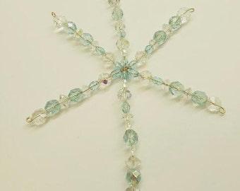 Handmade Crystal Snowflake Ornament