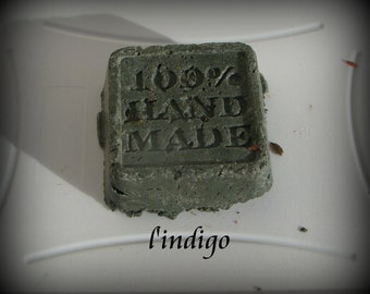 Natural solid shampoo, for gray-highlighted hair, the INDIGO 45-65gr