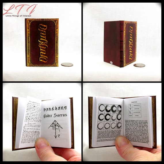 DARKHOLD 1:3 Scale Illustrated Readable Book Marvel Agents of Shield Magic Wizard Chthon Scrolls Black Magic Grimoire