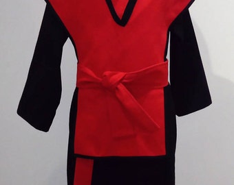 Ninja complete outfit (sizes 3 to 8)