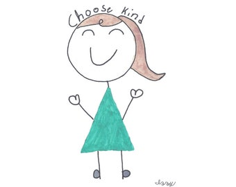 T-shirt, Izzy for Random Acts of Kindness - Choose Kind