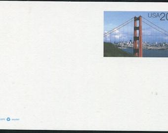 Golden Gate Bridge & San Francisco At Daylight/Unused Postcard