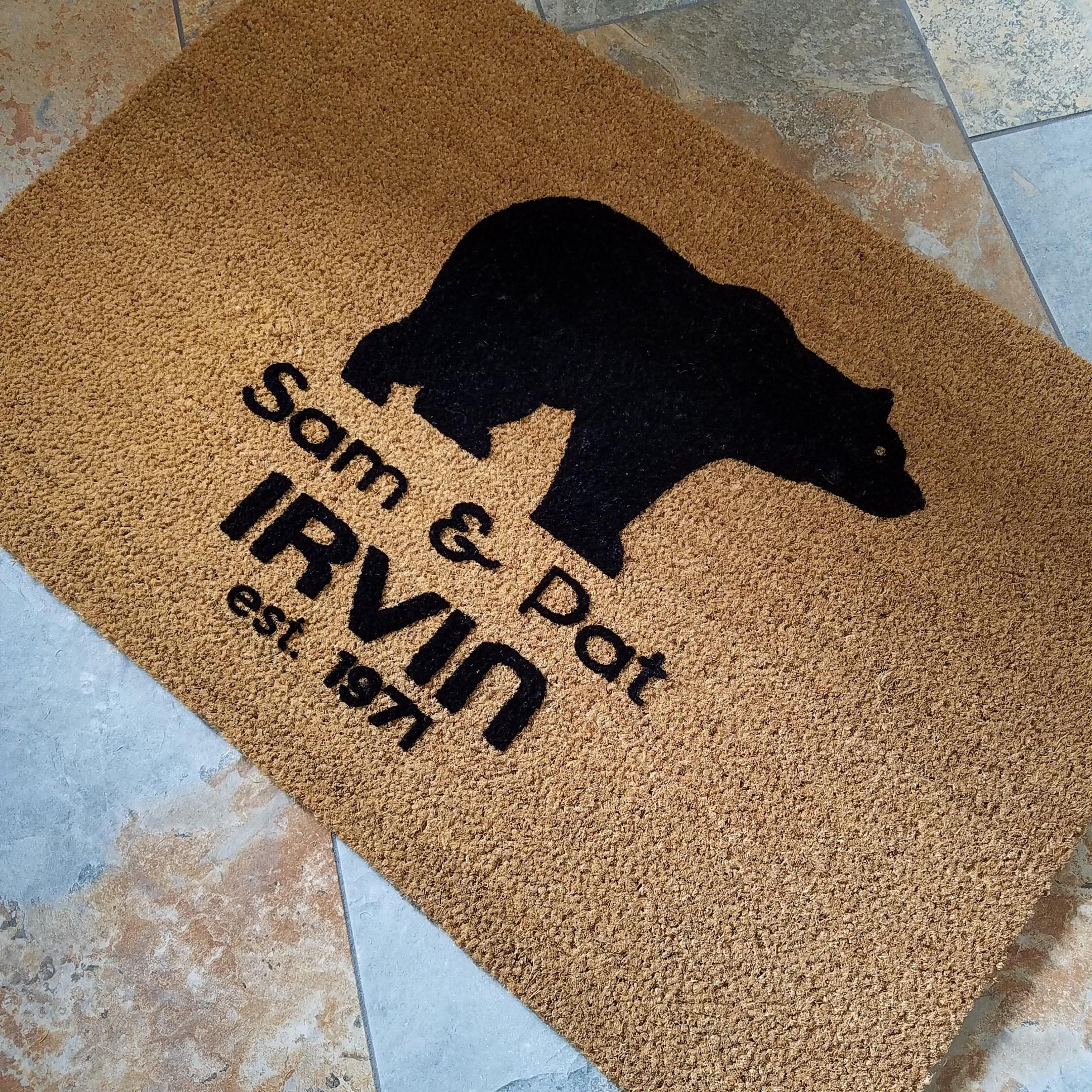 door flags com product doormat flagology printed close personalized print love mats custom paw dog