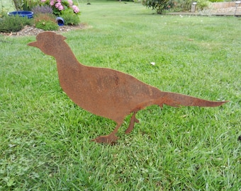 Rusty Metal Pheasant / Pheasant Decor / Metal Pheasant / Pheasant Gift / Rusty Metal Garden Decor / Pheasant brace / Pheasant Sculpture
