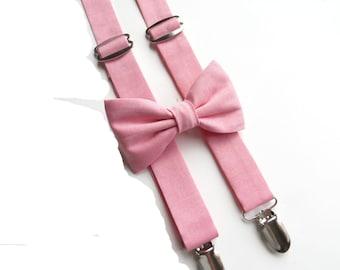 Parfait Color Suspender Set, Coral Suspender Set, Parfait Color Wedding Suspenders, Toddler Wedding Suspenders