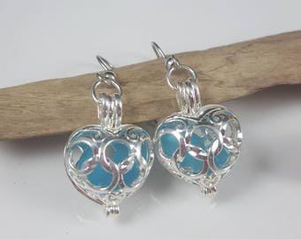 Sea Glass Earrings Sea Glass Jewelry Turquoise Sea Glass Jewelry Gift for Her