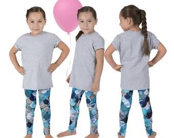 Mermaid Pants, Mermaid Scale Pants, Fish Scale Leggings, Mermaid Daughter, Mermaid Birthday, Ariel Leggings, The Little Mermaid
