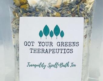 Calming bath salts, herbal bath soak, herbal bath salts, natural bath salts, bath tea bags, bath soak, spa gift, mothers day gift, bath salt