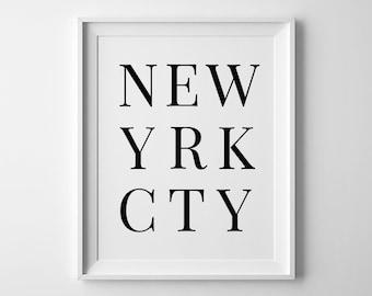 NYC Print, New York City, NYC art, New York Poster, Printable NYC, City Poster, New York Print, New York Wall Art