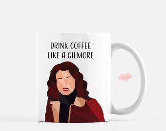 Lorelai Gilmore Loves Coffee Coffee Coffee Mug - Gilmore Girls