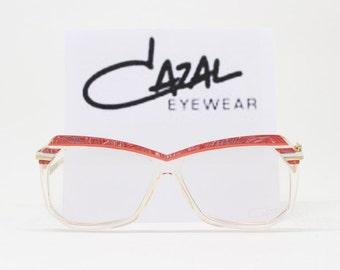 Cazal glasses, MOD 181, frame West Germany, designer eyewear, original 70s, clear lens, spectacles eyeglasses