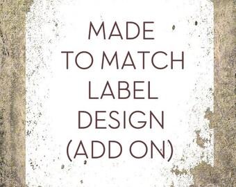 Custom Label Design, Digital Label Add on to Match Your Banner Set