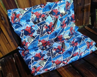 Spiderman Nap Mat Cover with Attached Pillowcase