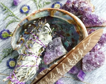 Lavender Amethyst Smudge Kit