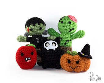 Pankizoo's Halloween Collection Plushies Bundle. Halloween Plush. Halloween Toys. Halloween Decorations. Halloween Gifts. MADE.TO.ORDER.