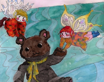 Fairy Rescue Illustration Print