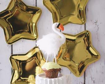Swan Cake Topper - Pearl