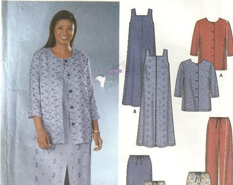 Simplicity 7102 EASY Misses Womens Wardrobe Dress Top Skirt Pant Sewing Pattern Plus Size 26 - 28 - 30 - 32