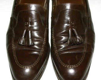 Men's Vintage Florsheim Imperial Tassel Loafers / Brown Leather Shoes / Men's Dress Shoes / Size 11 D