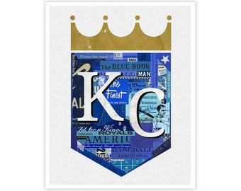 Kansas City Royals Art Print - Collage Illustration Art Print - KC ROYALS