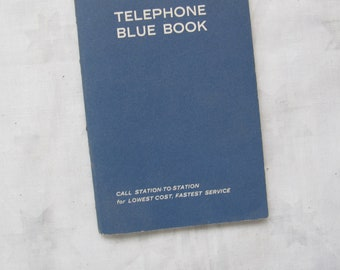 Telephone Blue Book / The Bell Telephone Company of Canada blue phone book / Pocket phone book / Bell blue book / Bell Canada Ephemera