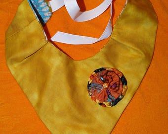 Baby Bib Reversible Handkerchief Style