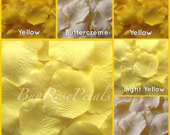 Yellow Rose Petals Value Pack -1,000 Silk Rose Petals