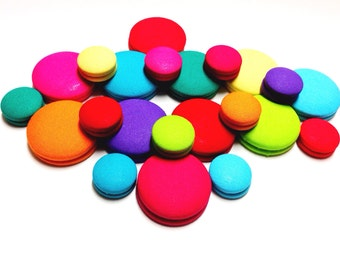 Oversized Summer Bright Colorful Print Button Earrings