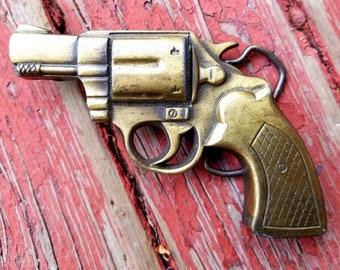 Vintage Gun Pistol Belt Buckle