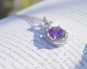 Superb pendant in Amethyst, stone of protection and spiritual growth