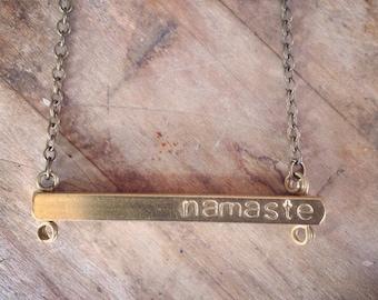 Namaste Bar Necklace
