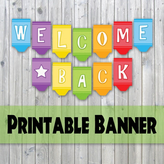Critical image for welcome back sign printable