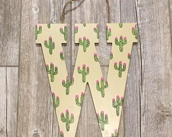 Cactus letters, cactus party, cacti party, cactus decor, cactus art, cactus wall art, succulent decor, garden decor, cactus print, cacti