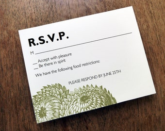 Printable RSVP Card - Response Card Download - Instant Download - RSVP Template - Response Card - Vintage Thistle - Vintage Botanical rsvp