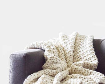 Blanket Crochet Pattern / Throw Blanket Crochet Pattern / Afghan Crochet Pattern / Bulky Blanket Crochet Pattern / Afghan Pattern