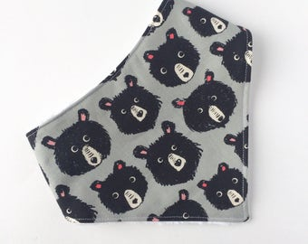 Teddy Bear Bandana Bib - Baby Bib  - Baby Bandana Bib - Gender Neutral Baby Gift - Baby Gift - Bibs & Burping