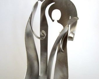 Family of Four- Metal miniature sculpture- self standing