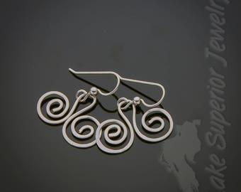 Silver Filled Wire earrings