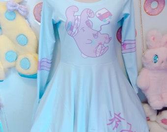 Yami Kawaii Painfully Hurt Abby Bunny Bandage Dress Size Small (long sleeve version)