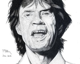 Art Print - Pen & Ink Drawing, A4 - Mick