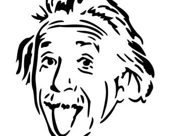 Albert Einstein Die-Cut Decal Car Window Wall Bumper Phone Laptop