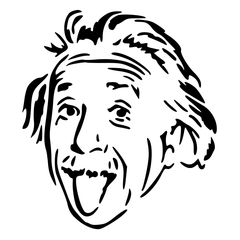 Albert Einstein Die Cut Decal Car Window Wall Bumper Phone