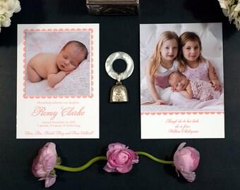 Letterpress Birth Announcement   Letterpress Adoption Announcement   Photo Announcement   Custom Birth Announcement   LARGE Announcement