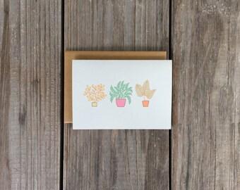 Colorful Card Set, Plant Note Card Set, Vibrant Card Set