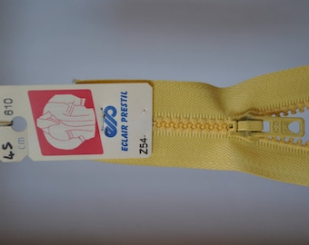 zip up 70cm separable Z54 yellow straw 610 molded plastic mesh