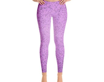 Leggings, Ankle Length Leggings, Capri Leggings, Yoga Pants, Purple Leggings, AthLeisure Leggings, Athleisure Wear