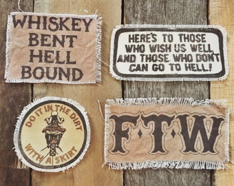 Handmade canvas patches