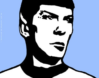 Spock as portrayed by Leonard Nimoy Art Print