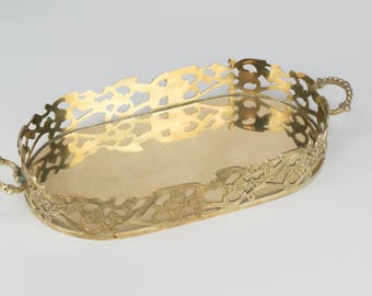 Brass Oval Vanity Tray